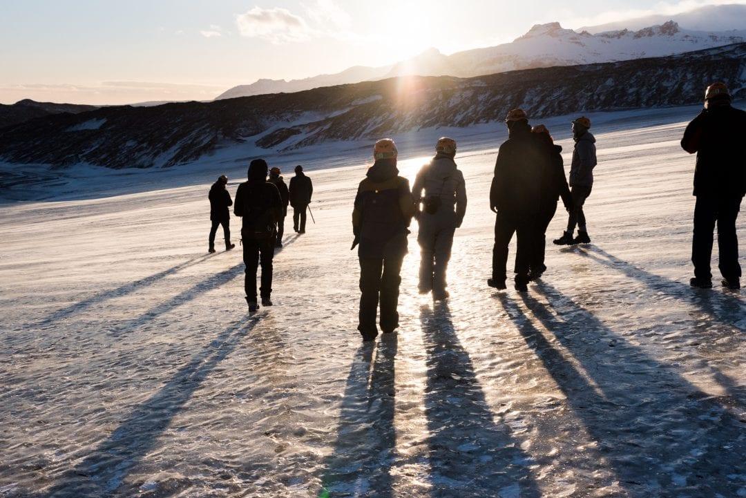 Marche sur le glacier de Vatnajokull