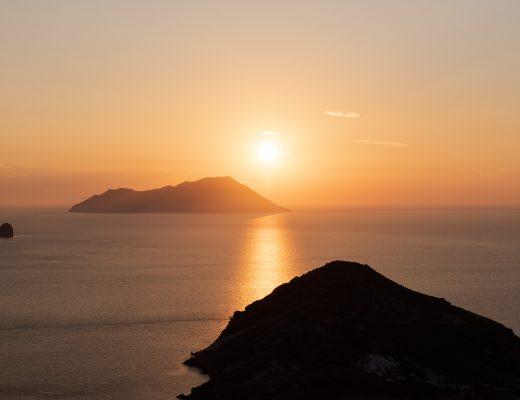 Coucher de soleil à Milos