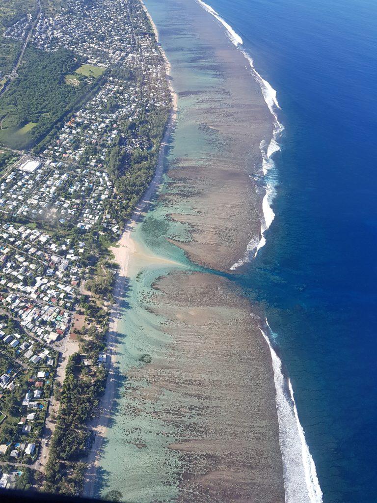 Survol du lagon île de La Réunion