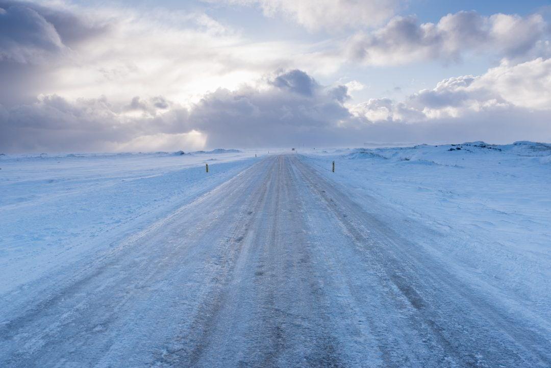 Route islandaise en hiver