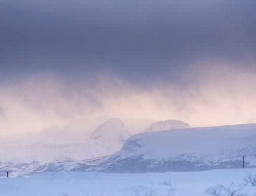L'Islande sous la neige