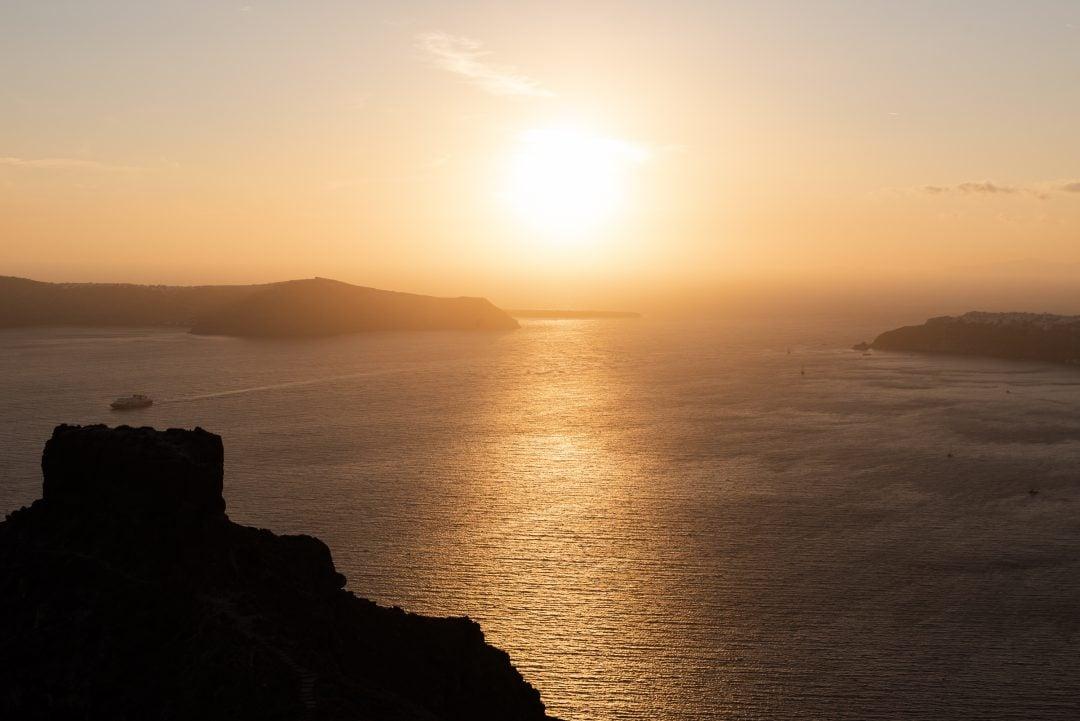 Coucher de soleil à Imérovigli
