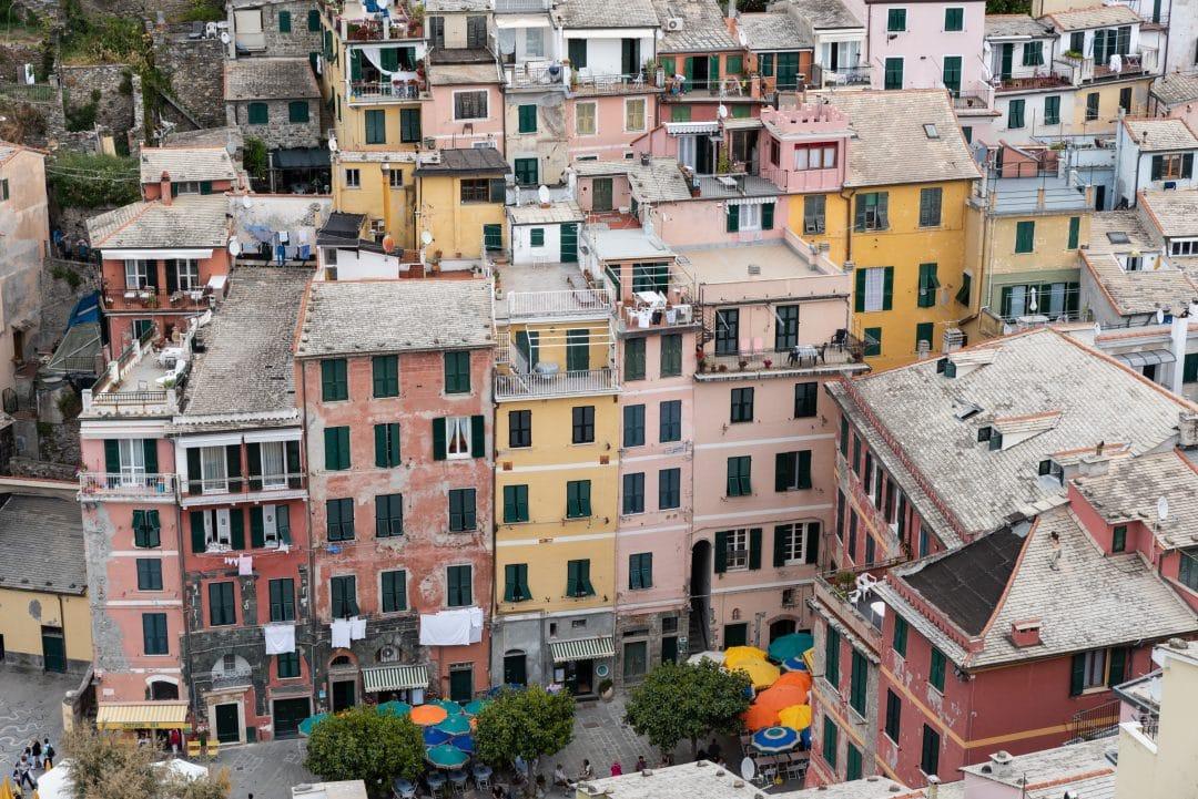 Habitations colorées à Vernazza