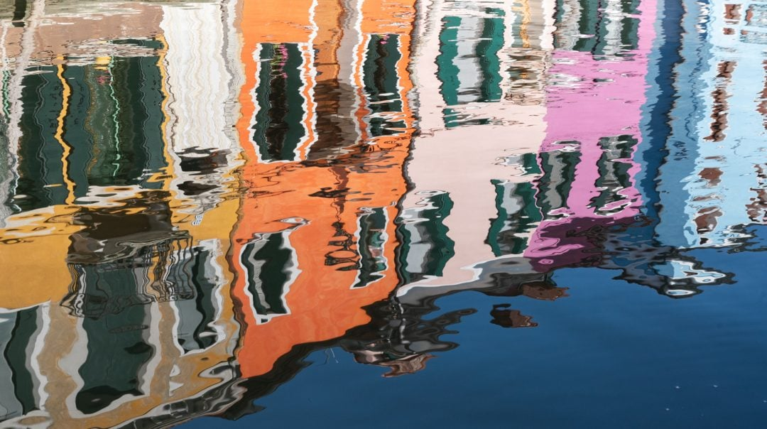 reflets dans l'eau Burano