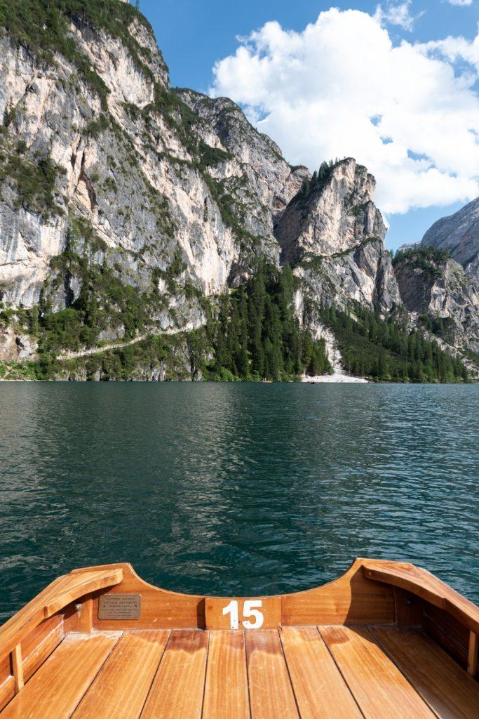 Balade en barque sur le Lago di Braies