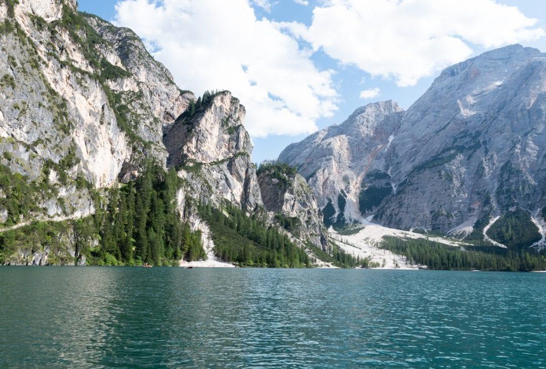 Lago di Braies en barque