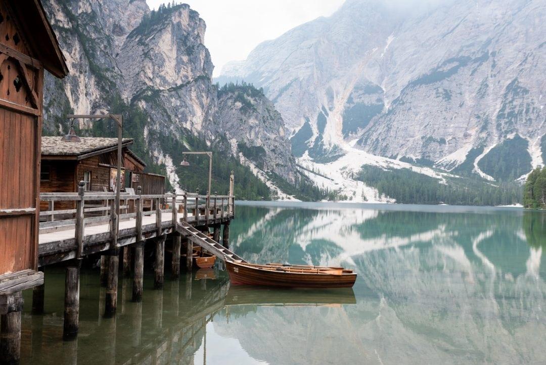 Lago di Braies miroir d'eau