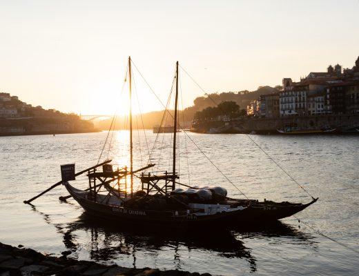 Coucher de soleil sur le douro