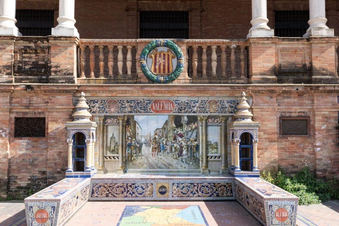 Détail Place d'Espagne à Séville