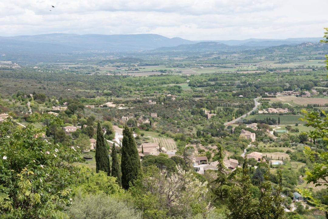 vue depuis le village de Gordes