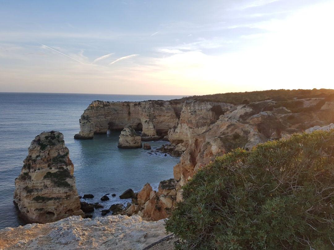 coucher de soleil à Praia di Marinha