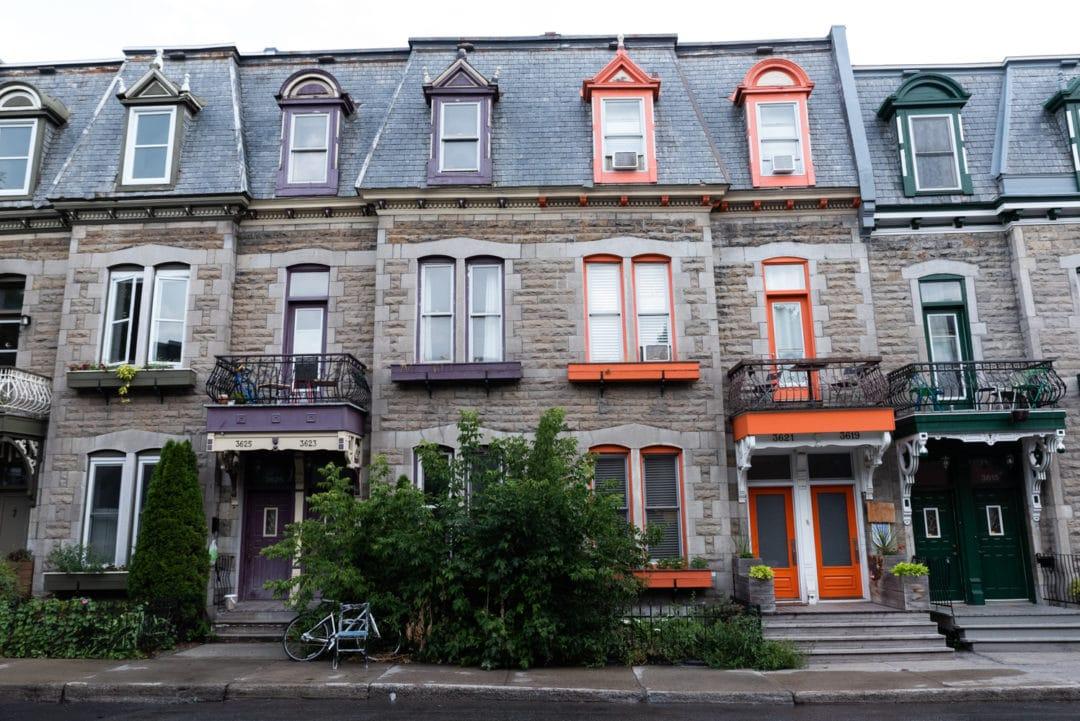maisons au quartier le plateau Montréal