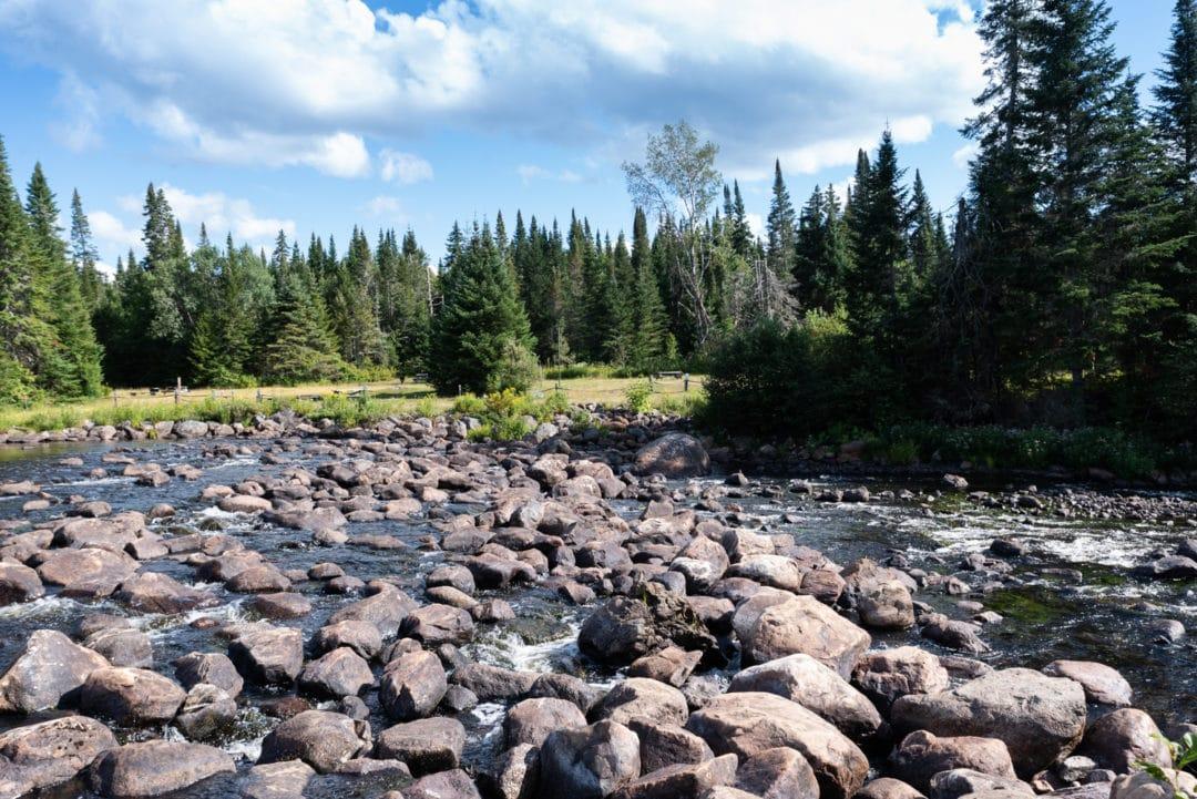 rivière parc mont tremblant
