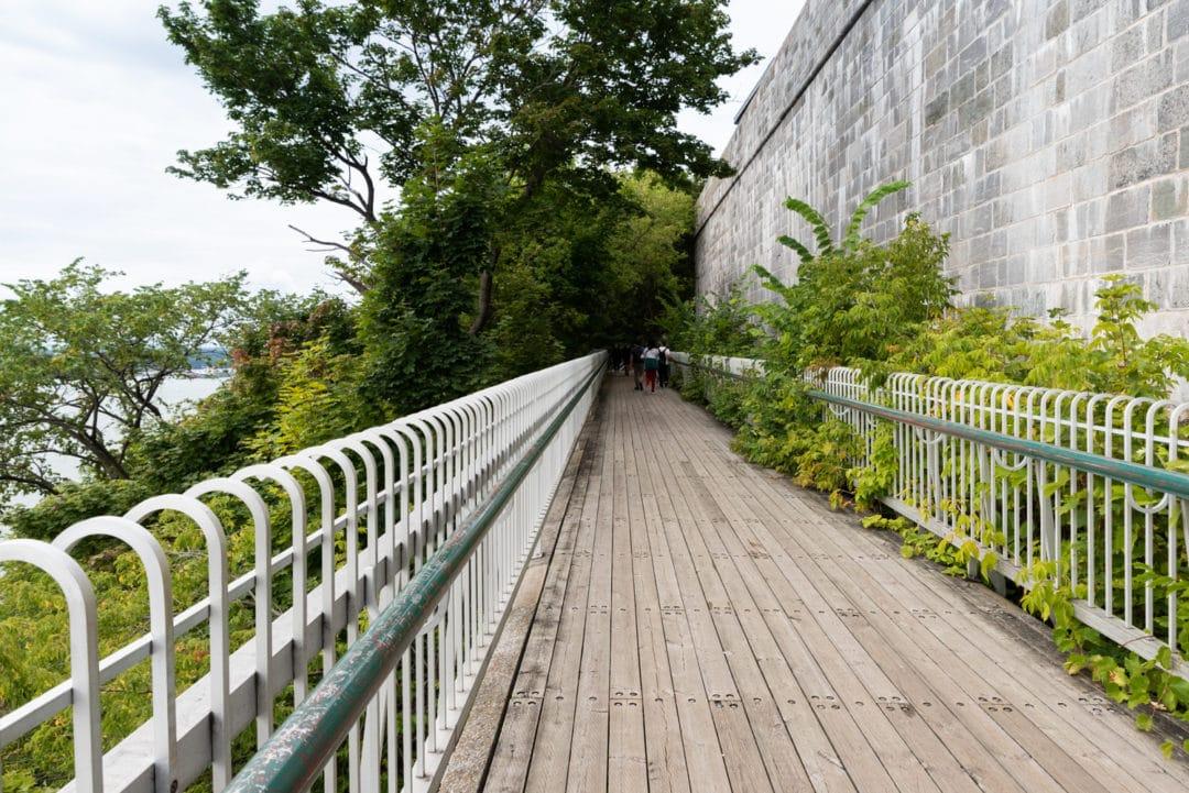 promenade des gouverneurs à Québec