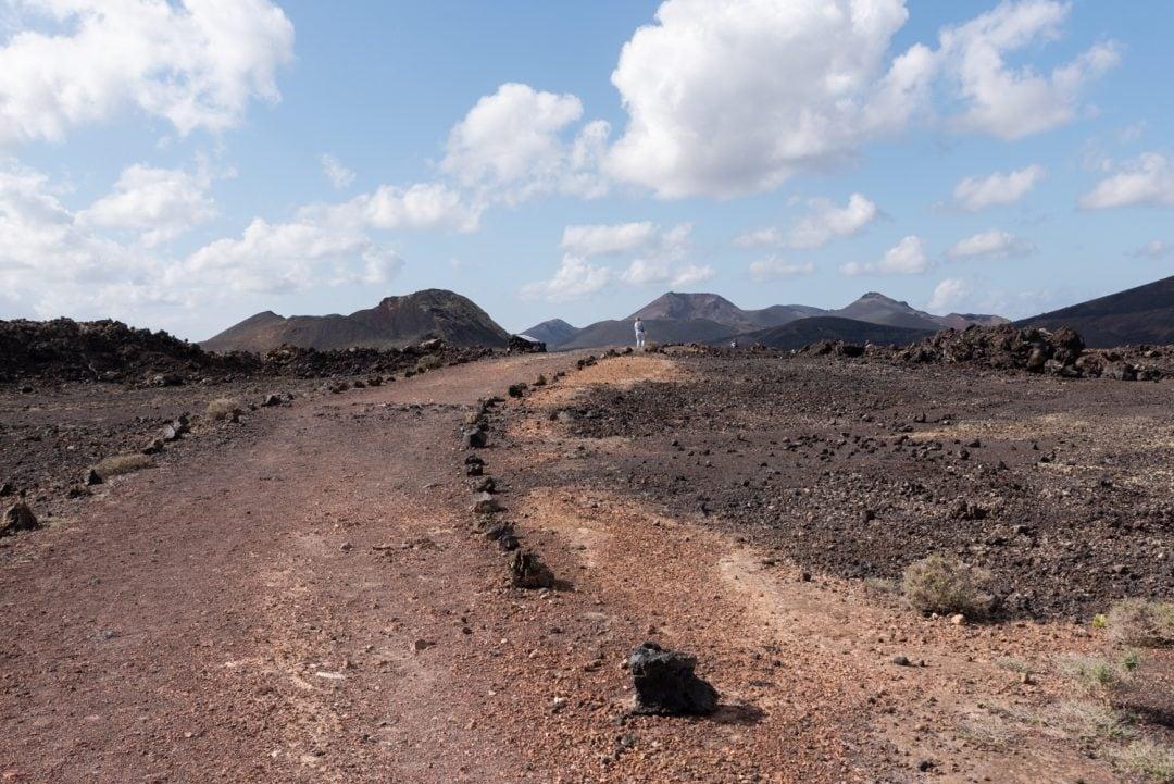 vue sur les volcans à Lanzarote